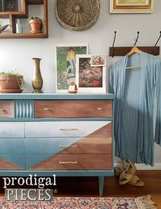Boho Chic Style Mid Century Modern Bassett Dresser for Bedroom Decor by Larissa of Prodigal Pieces | prodigalpieces.com #prodigalpieces #furniture #boho #midcentury