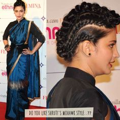 Shruti Hasan tells you how to wear a saree with a twist...  P.S- We loved her Mohawk hairdo.  ‪#‎ShrutuHasan‬ ‪#‎CelebStyle‬ ‪#‎MohawkHairstyle‬ ‪#‎Kapsons‬