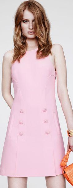 Pale pink short dress - Versace