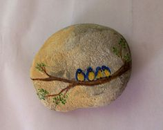 """Pinner said... """"It started as something very simple, but I really like it.""""    Painted rock"""