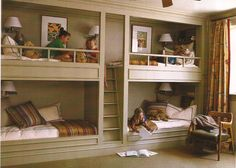 Built+in+Bunk+Bed+Plans | built-in bunk beds, or handcrafted sleigh beds , with tons of built ...