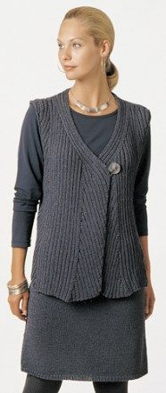 Free knitting pattern for Sheila ribbed vest and other vest knitting patterns