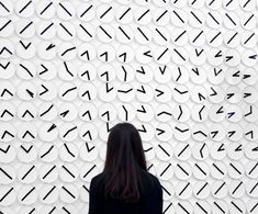 Stockholm studio Humans Since 1982 has combined 288 analogue clocks to create an installation of shifting monochrome patterns, lettering and numbers