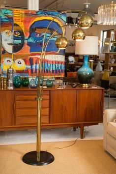 Mid Century Triple Arc Lamp