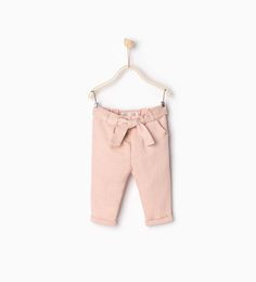 Trousers with tie belt-LEGGINGS AND TROUSERS-BABY GIRL   3 months-3 years-KIDS   ZARA United States