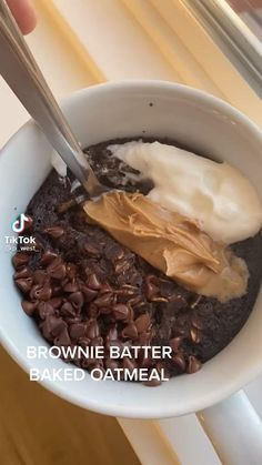 Healthy Breakfast Recipes, Healthy Baking, Healthy Desserts, Healthy Food, Fun Baking Recipes, Snack Recipes, Cooking Recipes, Oatmeal Recipes, Baked Oats