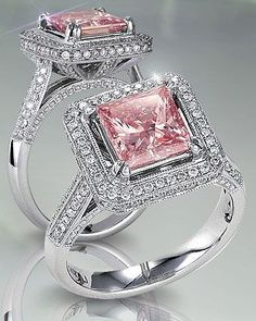 Pink diamond engagement ring. ~ 35 Pieces Of Gorgeous Jewelery - Style Estate -