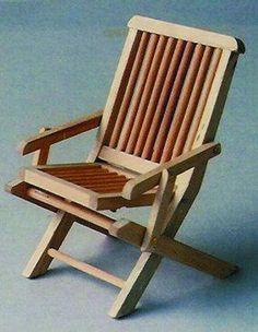 1:12 Scale Dark Oak Wooden Garden Chair Dolls House Miniature Garden Accessory | eBay