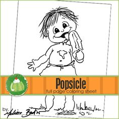 Popsicle Printable Coloring Page