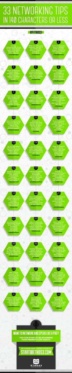 33 Networking Tips You Can Read Very Fast - The Muse: If you're short on time, this infographic will . You looking for help get going your network marketing business? See more info below Business Networking, Business Marketing, Business Tips, Internet Marketing, Networking Events, Professional Networking, Business Grants, Social Business, Business Professional