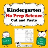Kindergarten NO PREP Science Cut and Paste Worksheets, Distance Learning Cut And Paste Worksheets, Printable Worksheets, Kindergarten, Floating In Water, Grade 1, Teacher Resources, Sorting, Prepping, Science