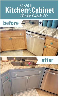 How To Paint Oak Kitchen Cabinets Weekend Crafts I Am