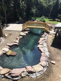 Natural Swimming Ponds, Swimming Pool Filters, Natural Pond, Swimming Pools Backyard, Swimming Pool Designs, Swimming Holes, Garden Pool, Natural Backyard Pools, Small Backyard Pools