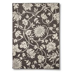 Maples Floral Rug - Brown