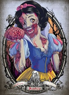 Zombie Disney princesses fell under a scarier, less glamorous spell than usual - Boing Boing