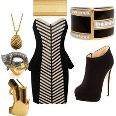 Like a sexy zebra, created by lee0768 on Polyvore