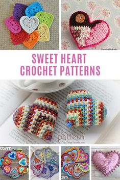 Sweet Heart Crochet Patterns for Valentine's Day or Any Day! Crochet Crafts, Yarn Crafts, Crochet Projects, Decor Crafts, Diy Projects, Diy Crafts, Free Heart Crochet Pattern, Free Crochet, Double Crochet