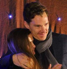 Benedict Cumberbatch & Louise Brealey at the Starfury Elementary convention, Birmingham, 9/2/2014. http://www.pinterest.com/aggiedem/sherbatched-or-cumberlocked/