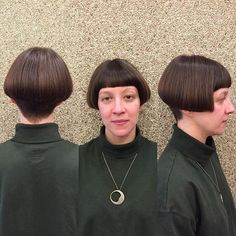 #bowlcut on Instagram Short Choppy Hair, Short Bob Haircuts, Cool Haircuts, Short Hair Cuts, Short Hair Styles, Long Face Shapes, Long Faces, Bowl Cut, Cut My Hair