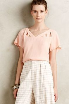 Maeve Tri-Cut Blouse. Love this blouse but in a different color