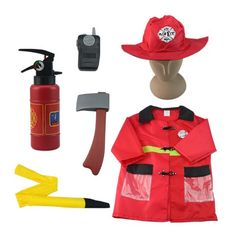 Kids' Costume Accessories - Firefighter Costume  iPlay iLearn Fire Chief Role Play Costume Set -- Click image to review more details.