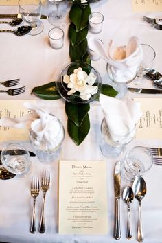 Gardenia Centerpiece Wedding Ideas