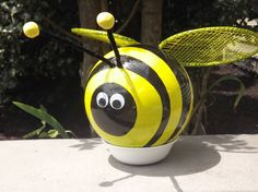 My bumble bee bowling ball art that my hubby and I did together!
