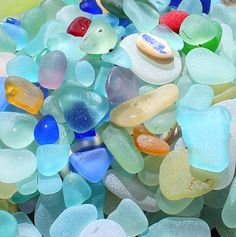Treasures from our trip to the Northern California Sea Glass Beaches! Love the colors.