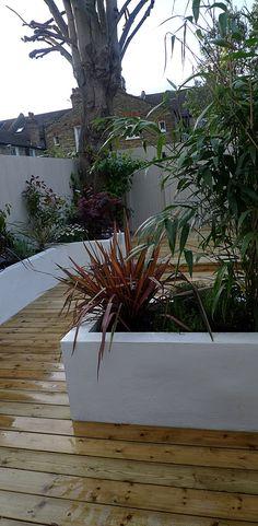 Planting wood garden floor London design garden company