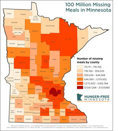 More than 600,000 people in Minnesota are hungry, missing 100 million meals every year.