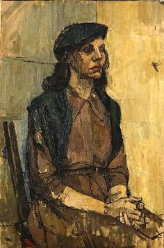 Euan Uglow, Girl in a Green Dress (The Beret) Dimensions: 30 x 20 in Medium: oil on canvas Creation Date: 1950 Painting People, Figure Painting, Painting & Drawing, Life Drawing Classes, Figurative Kunst, Portraits, Portrait Paintings, Art Station, Vintage Artwork