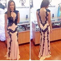 New  Hot Custom Design Sexy  Winter  Open Front Sleeveless Sheer Back Trumpet Floor Length Lace Prom Dress Party Gown New Mother