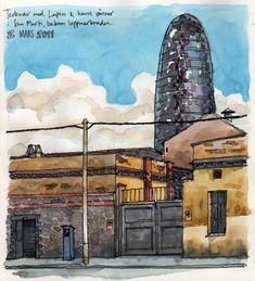 In San Marti, Barcelona   por nina drawing