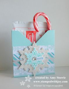 I created this fun little project for my club members to make this month. The box is made with the Envelope Punch Board. I followed the measurements for a 3-1/2″ x 4-1/2″ card. I started scoring just