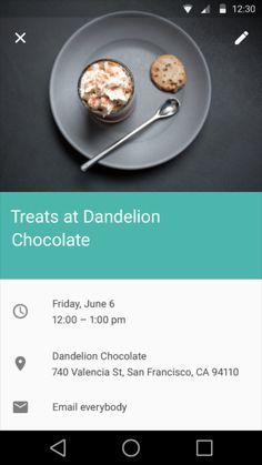 Google Material Design: Calendar: Event / ?
