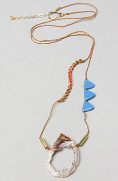 Kris Nations The Nob Hill Necklace in Periwinkle and Tomato : Karmaloop.com - Global Concrete Culture