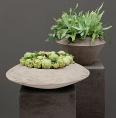 Hand-crafted planters thatwill last a lifetime. These pots are sculptural pieces for the home and garden that are constructedusing unique clay from different regions of Germany. They are madeusing moulds and are slowly hand carved and sculpted by a team of around 20 master craftspeoplewhich effectively gives each planters their one of a kind aesthetic....  Read more »