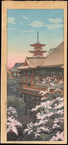 Koitsu, Tsuchiya (1870-1949) - Kyoto Kiyomizu Temple - 京都清水寺