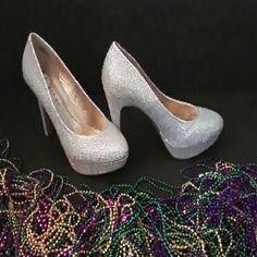 Silver heels Madden girl silver heels wore once. Make an offer! Madden Girl Shoes Heels