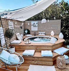 Backyard Patio Designs, Backyard Landscaping, Whirpool Outdoor, Piscina Intex, Hot Tub Backyard, Jacuzzi Outdoor, Stock Tank, Pool Designs, Outdoor Projects
