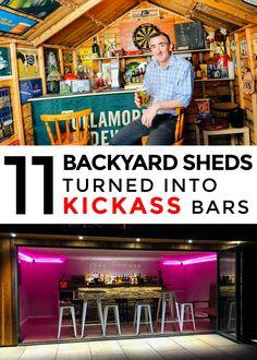 11 Backyard Sheds Turned into Kickass Bars