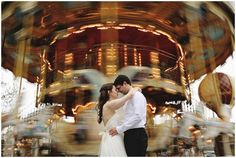 Carousel in Paris  | Photography Brant Smith | Planning Wedding Light | via French Wedding Style