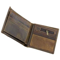 Mens Business Stylish Bifold ID Card Holder Brown Leather Wallet Brown Leather Wallet, Brown Wallet, Smart Design, Leather Wallets, Leather Material, Natural Leather, Card Holder, Australia, Pure Products