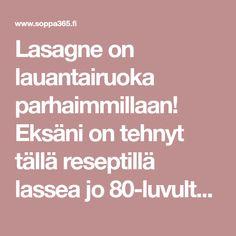 Paras koti-lasagne for ever Lassi, Lasagna