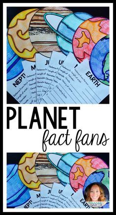 """Are you looking for a school project to help teach your students about planets and the solar system? This fun craft for kids is interactive and educational! Students research the planets and write the facts on each """"fan!"""""""