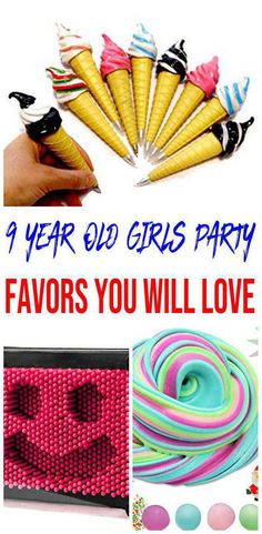 Having a 9 year old girls party and looking for some fun and great ideas for the kids to take home as party favors? We have gathered up some of the best 9 year old girls party favor ideas. 9 Year Old Girl Birthday, Girls Birthday Party Games, Slumber Party Games, Girl Birthday Themes, Birthday Gifts For Girls, Birthday Party Favors, 9th Birthday, 9 Year Olds, Party Supplies