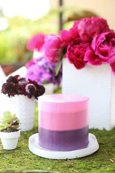 Ombre cake in purple & pink - just perfect!