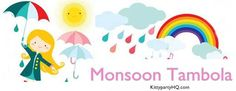 Monsoon is here ! Why not look for a monsoon special kitty party game idea that all of your fellow kitty will love?  Today, I am going to share monsoon housie/tambola game. I have prepared a list of 40 hindi words that we remember with respect to rainy season.  All you need to do is make a chit of all 40 words and printout of tambola ticket given below, and you are ready play !
