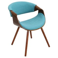 Curvo Mid-Century Modern Chair in Walnut Wood - LumiSource : Target