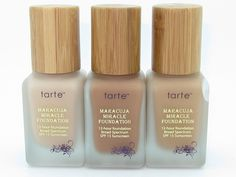 Tarte Maracuja Miracle Foundation - if you want a true FULL coverage foundation that covers sun spots, isn't heavy, and doesn't budge - this is your holy grail. - I might give this a try...